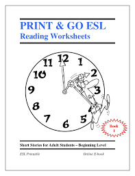 esl ebook worksheets for beggining level