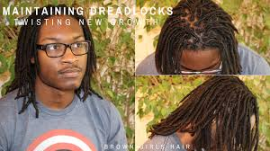 maintaining dreadlocks twisting new growth for men youtube