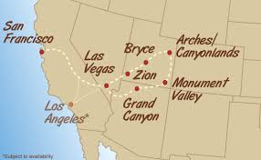 map us las vegas green tortoise adventure tours western u s a