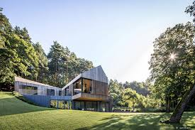 Slope House Wooden House On A Verdant Slope