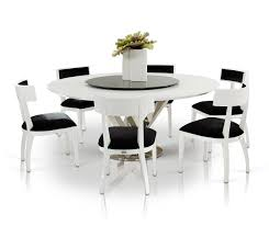 a u0026x spiral modern round white dining table with lazy susan