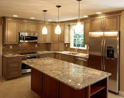 granite countertop kitchen cabinets high end with glass tile