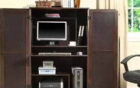 furniture custom computer armoire in black with many drawers