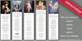 memorial bookmarks bookmarks memorial funeral stationery