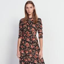 silk dresses mid length printed silk dress dresses sandro