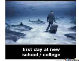 First Day Of College Meme - first day at new school college by saadak6 meme center