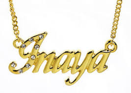 Gold Chain With Name 18k Gold Plated Necklace With Name Inaya Wedding Personalised