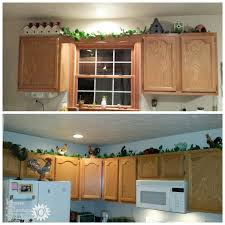 Decorating Above Kitchen Cabinets Ideas  Tips - Kitchen decor above cabinets