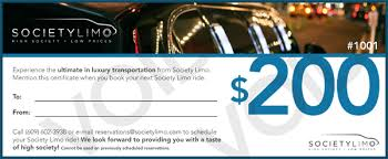 travel gift certificates societylimo
