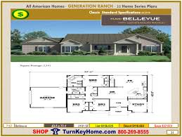 bellevue modular home ranch plan direct priced from all american