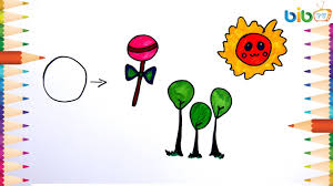 flowers candy and sun coloring pages for kids how to draw and