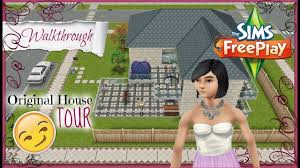 House Design Games Online Free Play by Walkthrough The Sims Freeplay Original House Design Tour The