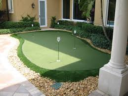 putting green in your backyard backyard and yard design for village