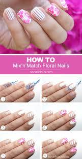 vietnam inspired floral nail art tutorial