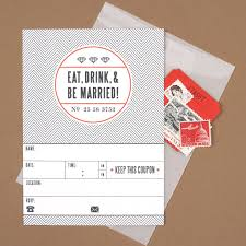 Eat Drink And Be Married Invitations 20 Invitations U0026 Save The Dates Available To Print U0026 Download For