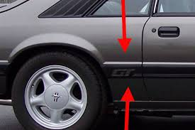 1985 mustang gt pictures 1985 86 ford mustang gt side moldings pair