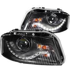 audi headlights anzo usa audi a3 06 08 projector headlights black clear r8