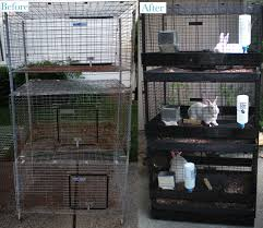 Stackable Rabbit Hutches Meat Rabbit Setup Thrifty By Nature