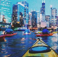 Chicago Beaches Map by Single Or Tandem Kayak Tour In Downtown Chicago From Chicago River