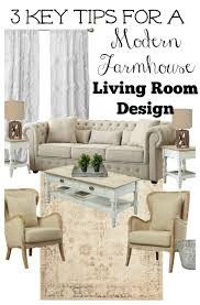 key tips for a farmhouse style living room