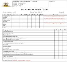 report card template pdf 30 images of report card template leseriail