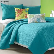 turquoise quilted coverlet camdyn bright solid color quilted coverlet from j by j queen new york