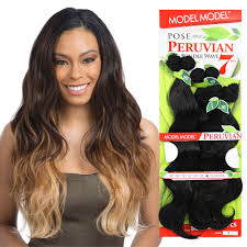 peruvian body wave 7pcs model model pose human blended weave ebay