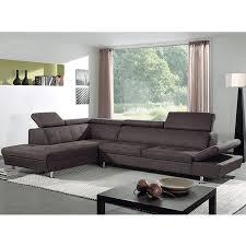 canapé d angle marron canapé angle marron en tissu sofamobili