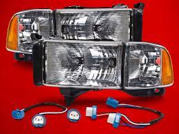 02 dodge ram headlights 94 02 dodge ram sport conversion headls headlights kit
