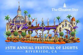 festival of lights riverside 2017 take a first look at riverside s rose parade float celebrating the