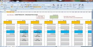 Excel Chart Templates Excel Organization Chart Template Demonstration