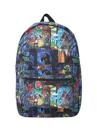 Beauty And The Beast Home Decor Disney Beauty And The Beast Stained Glass Backpack Topic