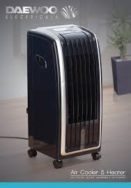 daewoo portable 6 5l 4 in 1 air cooler fan heater air purifier