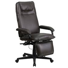 Recliner Swivel Chair Flash Furniture High Back Brown Leather Executive Reclining Swivel