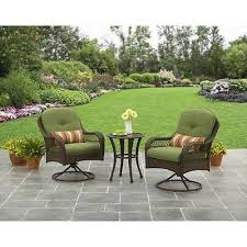 outdoor patio furniture bistro set chair coffee table green 3 patio