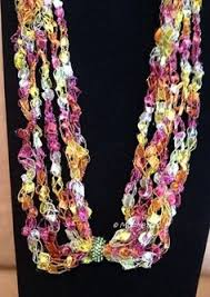 trellis ladder yarn necklace instructions crocheted necklace from trellis ribbon stitches yarn necklace