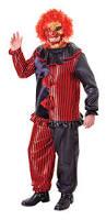 Halloween Clown Costumes by Zombie Clown Costume U0026 Mask Halloween Fancy Dress Scary