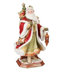 fitz and floyd damask holiday santa centerpiece figurine dillards