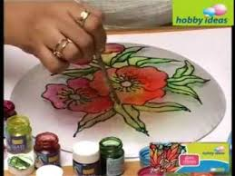 decorate a glass plate youtube