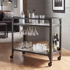 172 best bar carts images metropolitan charcoal grey industrial metal mobile bar cart with