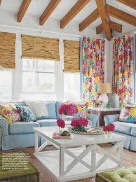 Lilly Pulitzer Home Decor Fabric by Living Room Drapes In Lilly Pulitzer Heritage Floral Blue Yellow