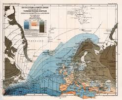 Map Of Ocean Currents Jf Ptak Science Books A Few Beautiful 19th Century Maps Of Water
