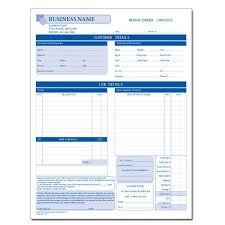 Auto Paint Shop Estimates by Automotive Repair Invoice Work Order Estimates Designsnprint