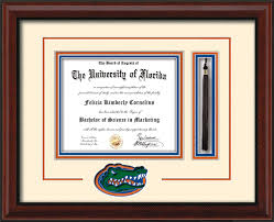graduation frames with tassel holder u of florida diploma frame mahogany bead 3d tassel orange blue