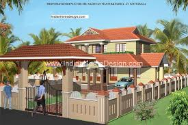 2400 sqft kerala independent villa design complete floor plan and