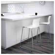 glenn bar stool white chrome plated 66 cm ikea