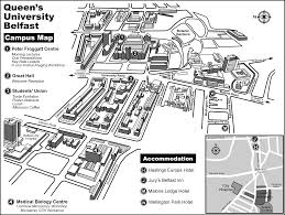 Map Of Queens Queens University Belfast Campus Map Lisburn Road Belfast