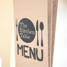Menu Picture Of The Kitchen Table Cafe Mumbles TripAdvisor - Kitchen table menu