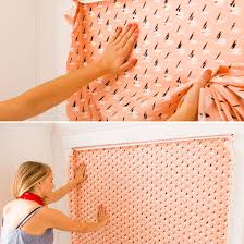 this diy fabric wallpaper is a renter u0027s best friend fabric