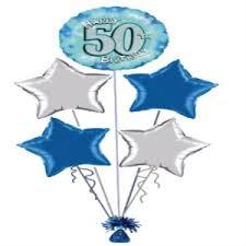 50th birthday balloons 50th birthday balloon display the big card shop